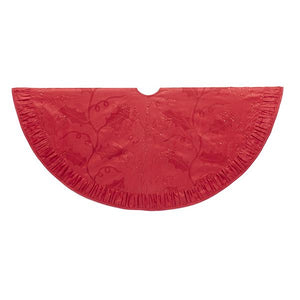 Kurt Adler 48-Inch Red Sequined Holly Tree Skirt, TS0185