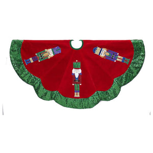 Kurt Adler 48-Inch Velvet Nutcracker Tree Skirt, TS0212
