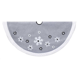 Kurt Adler 48-Inch Fleece Snowflake Tree Skirt, TS0218