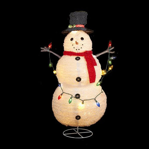 Kurt Adler Snowman Lighted Lawn Decor, UL0903