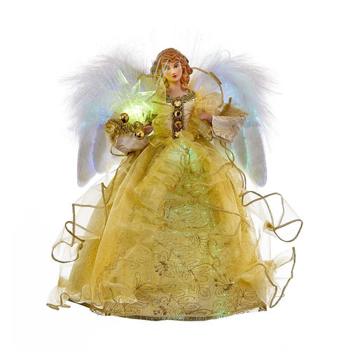 Kurt Adler Gold Fiber-Optic Angel Treetop, UL1096