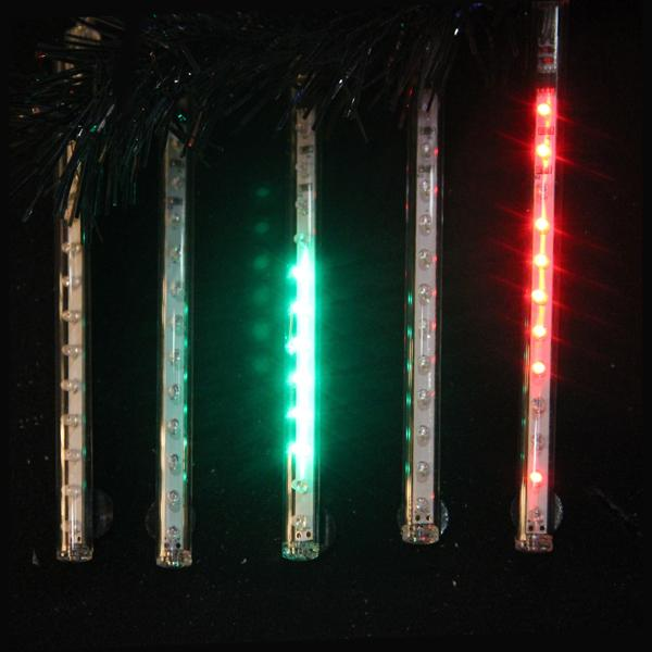 Kurt Adler 5-Light Multi-Color Snowfall LED Add - On Light Set With 12 Chip Set, UL2510N