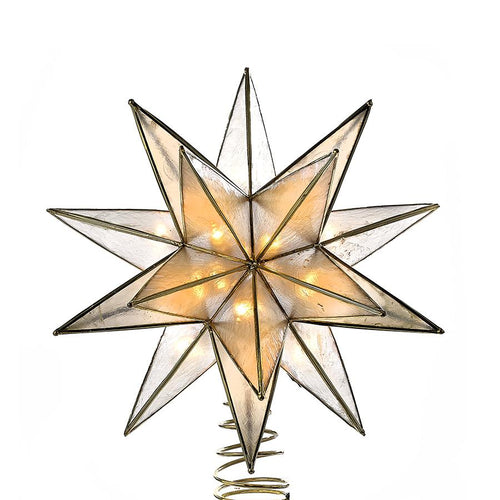Kurt Adler Gold Capiz Star Lighted Treetop, UL3135