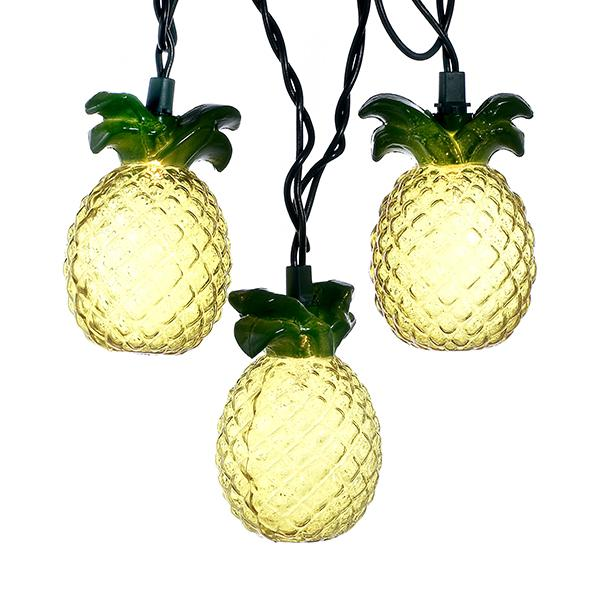 Kurt Adler Glass-Look Pineapple Light Set, UL4243