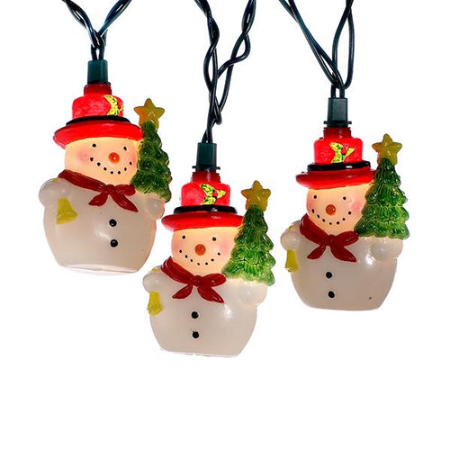 Kurt Adler Snowman With Christmas Tree Light Set, UL4285