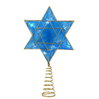 Kurt Adler Battery-Operated Deluxe Hanukkah Treetop, US0134