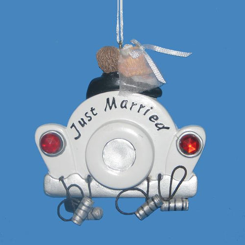 Kurt Adler Just Married Ornament For Personalization, W3110