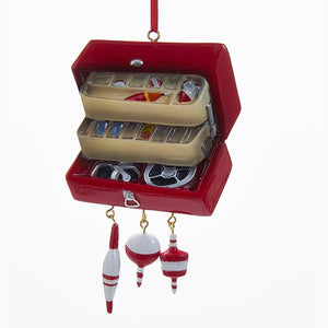 Kurt Adler Tackle Box Ornament For Personalization, W8218