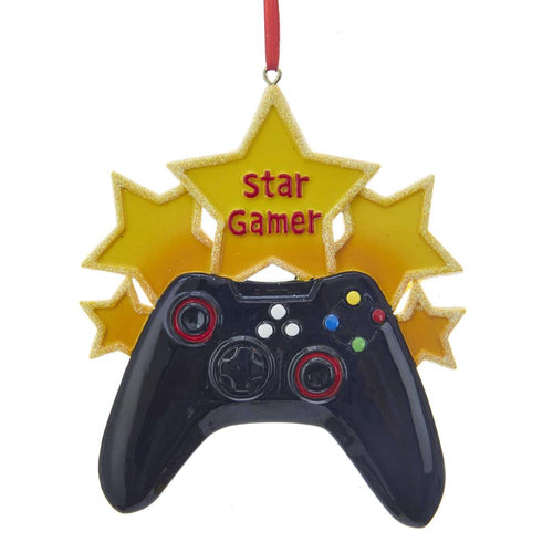 Kurt Adler Star Gamer Ornament For Personalization, W8364