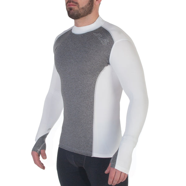 FITTED COLD MENS MOCK NECK THERMAL L/S TOP