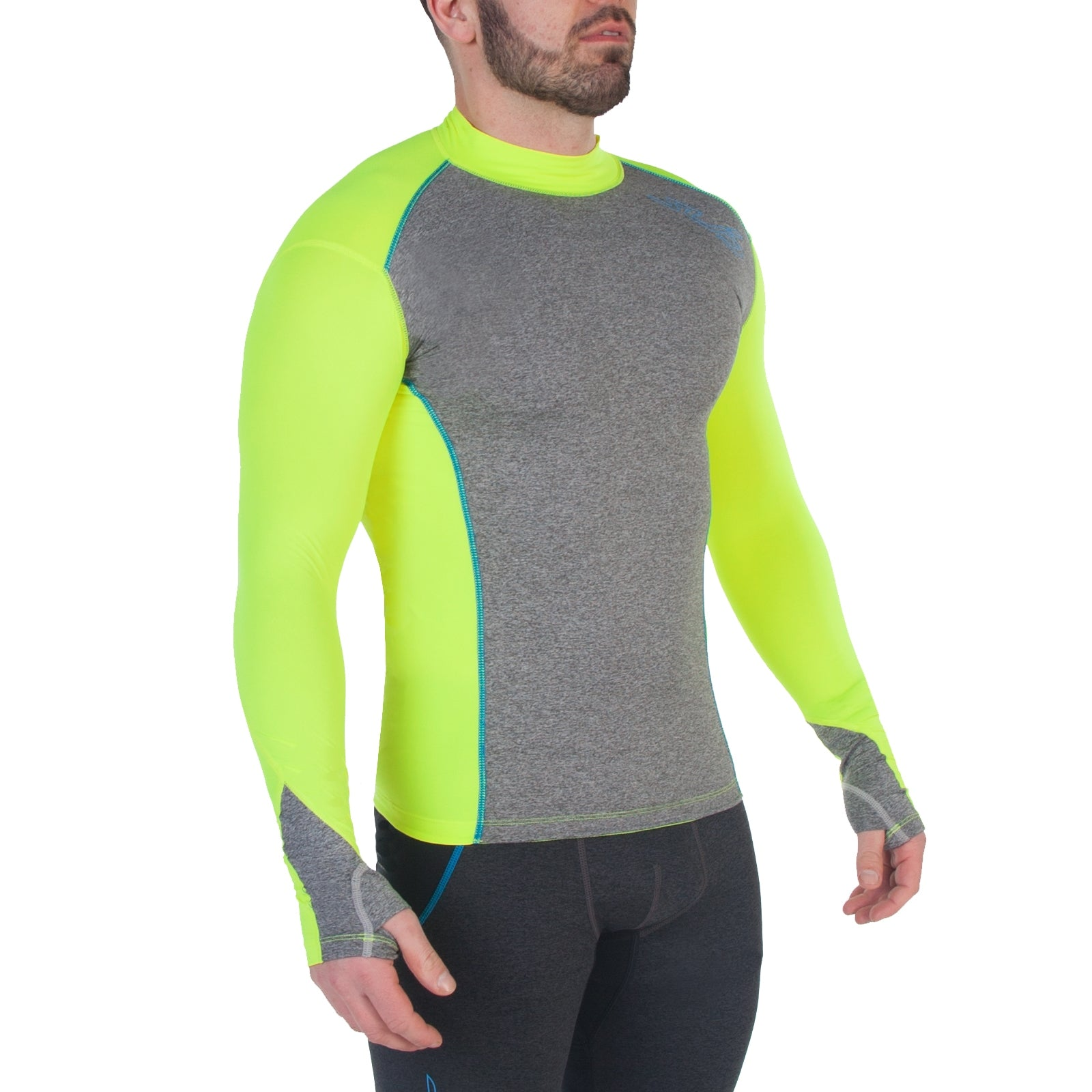Sub Sports Cold Winter Mens Thermal Mock Neck Compression Top