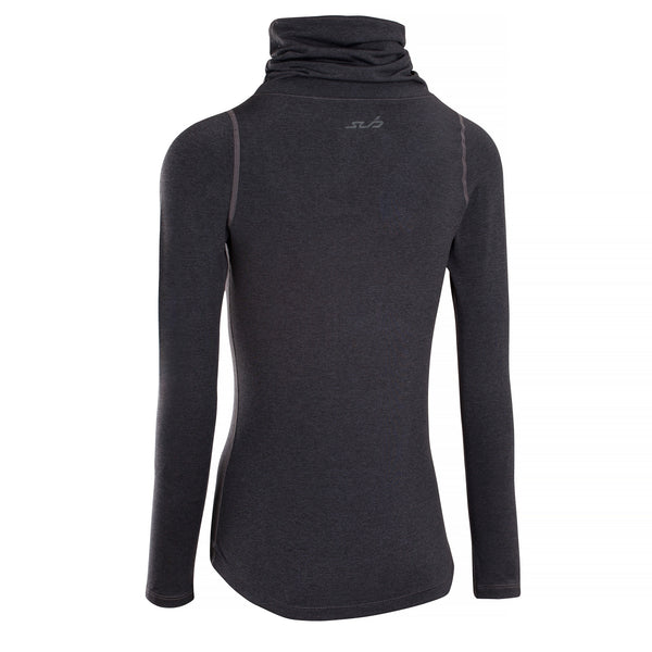 FITTED COLD WOMENS THERMAL FUNNEL NECK L/S TOP