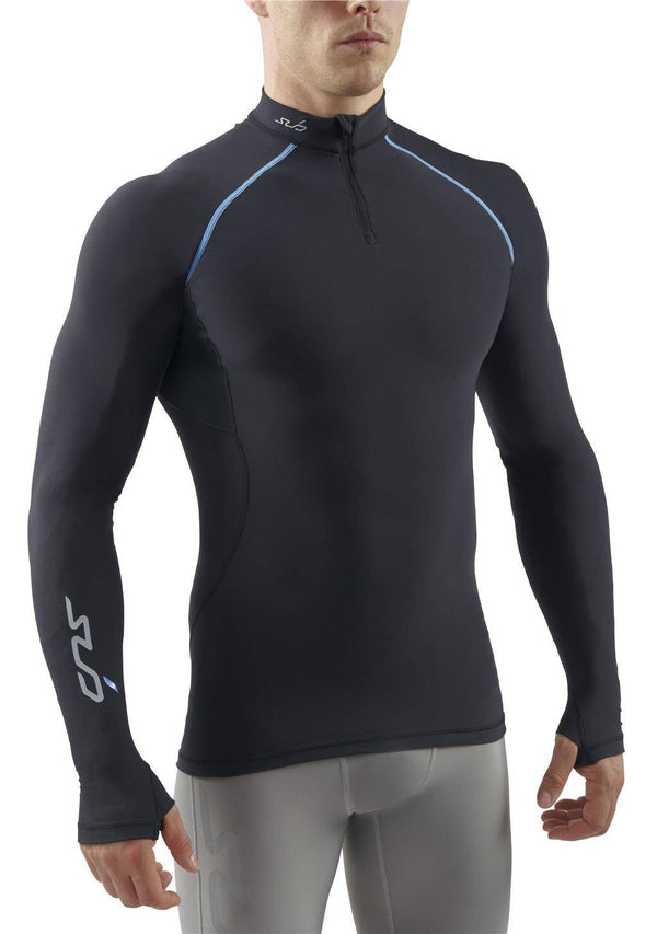 FREEZE MENS L/S SEMI-COMPRESSION ZIP TOP