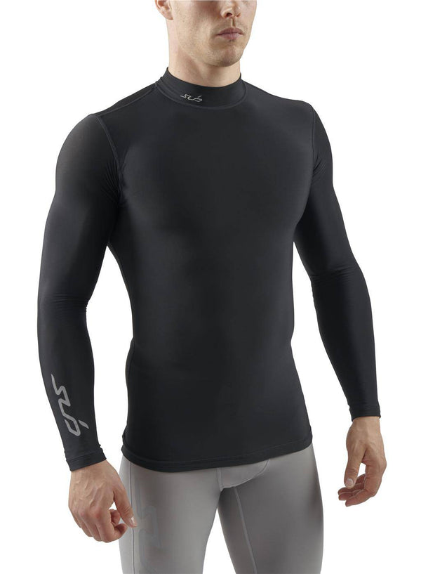 COLD MENS MOCK NECK L/S COMPRESSION TOP