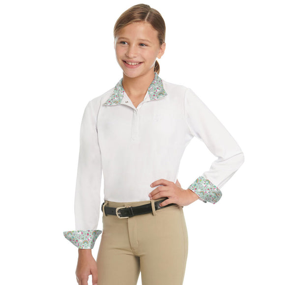 Ovation® Ellie Child's Tech Show Shirt,  Unicorn Sprinkles