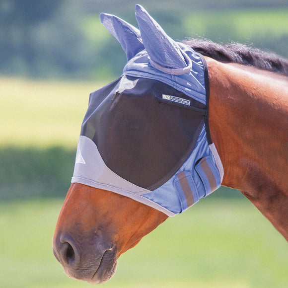 Shires Deluxe Fly Mask with Ears & Eye Darts
