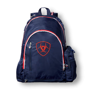Ariat® Ring Backpack, Navy & Red