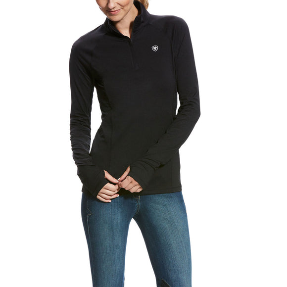 Ariat® Lowell 2.0 1/4 Zip Baselayer,  Black
