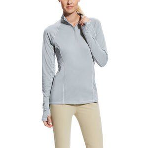 Ariat® Lowell 2.0 1/4 Zip Baselayer,  Coastal Gray