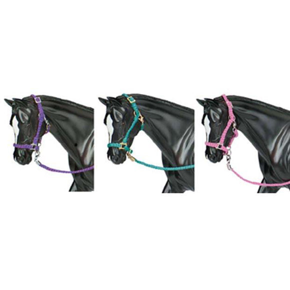 Breyer Hot Colored Nylon Halters, 3 Piece Set