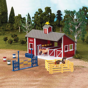 Breyer® Stablemates Red Stable Set with Two Horses