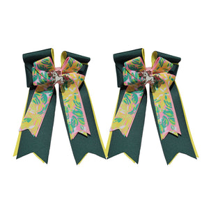 "Belle & Bow Equestrian ""Green Lilly"" Show Bows"