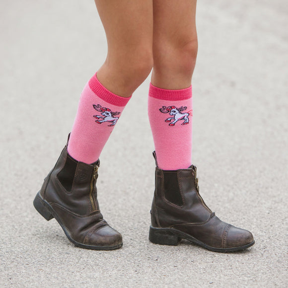 Belle Children's Logo Socks, Pink