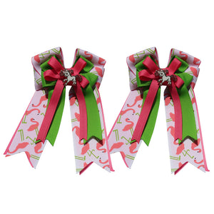 "Belle & Bow ""Flamingos"" Show Bows"