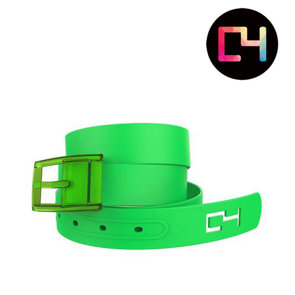 C4 Green Classic Belt with Green Buckle