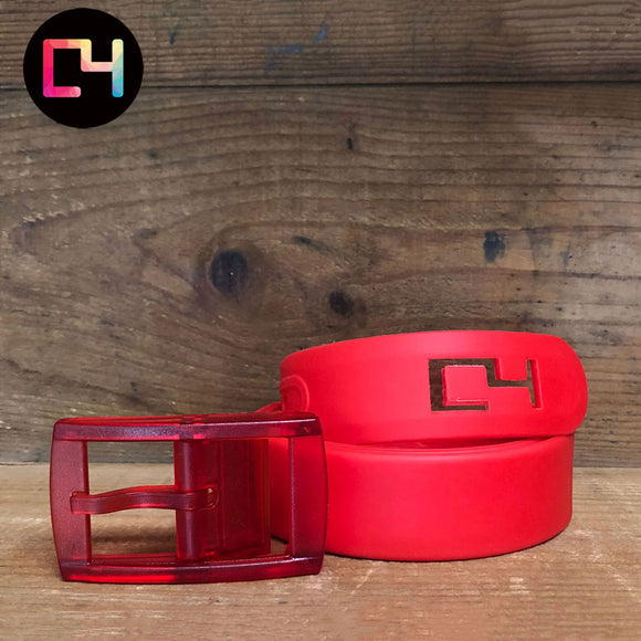 C4 Red Classic Belt with Red Buckle