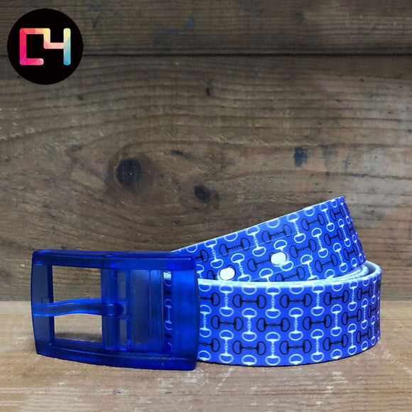 C4 Bits Blue Belt with Blue Buckle