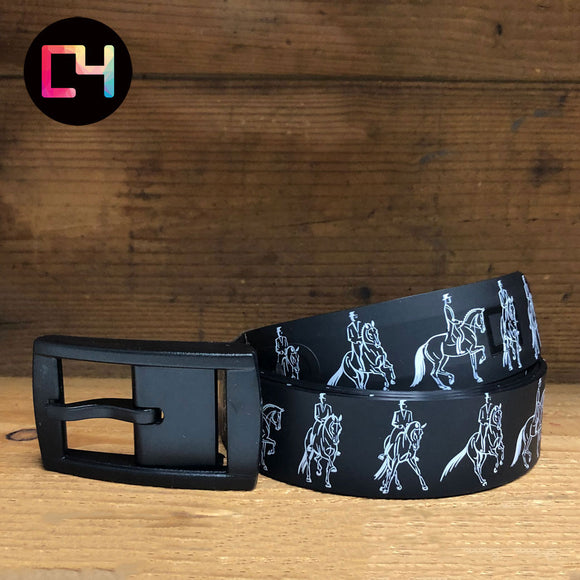 C4 Dressage Outline Black Belt with Black Buckle