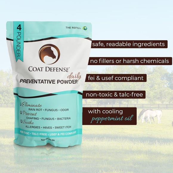 Coat Defense daily Preventative Powder 4lb Refill Bag