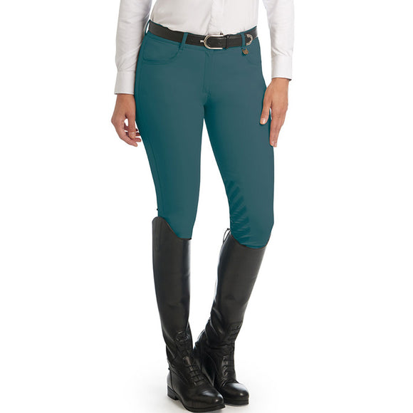 Aqua-X™ Silicone Knee Patch Breech, Blue & Forest