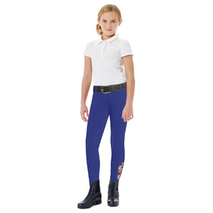 Ovation® AeroWick™ Child's Knee Patch Tight, Blue