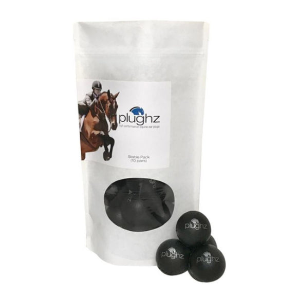 Plughz Equine Ear Plugs, Horse Size, Stable Pack