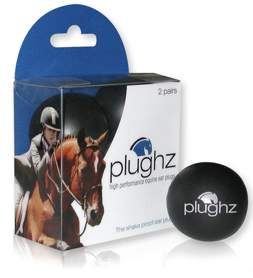Plughz Equine Ear Plugs, Horse Size,  2 Pair