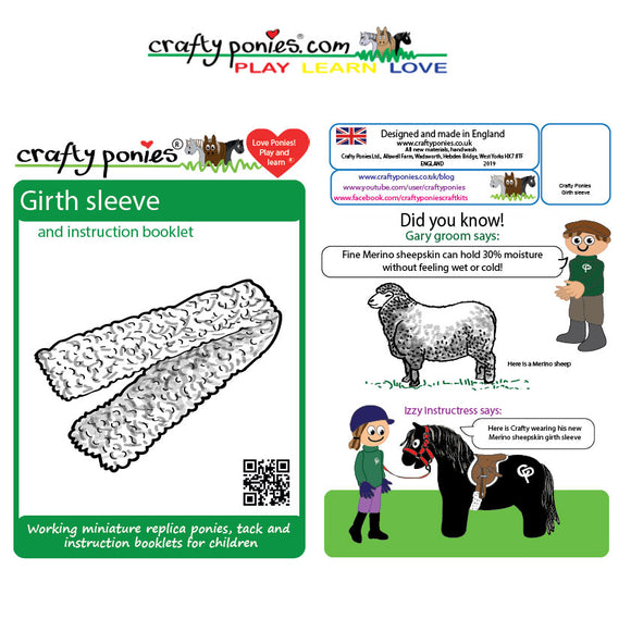 Crafty Ponies Saddle Pad, Girth Cover & Booklet