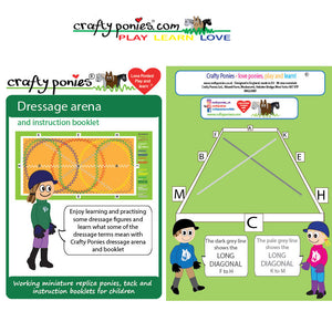 Crafty Pony Dressage Arena Mat & Booklet