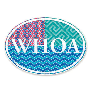 Euro Multi Colored WHOA Sticker