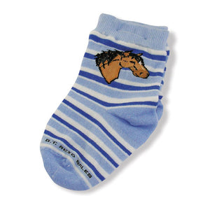 Infant Horsehead Striped Socks