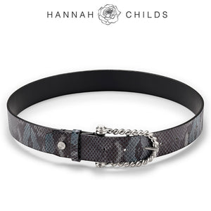 Hannah Childs Midnight Python Twisted Bit Belt