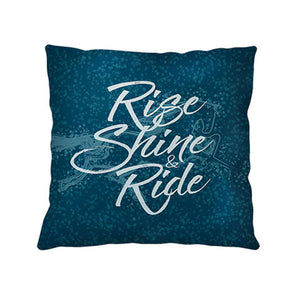 Rise Shine & Ride Throw Pillow