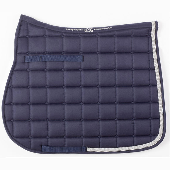USG Baroness Dressage Saddle Pad,  Navy/Silver