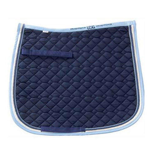 USG All Purpose Saddle Pad,   Navy & Ice Blue