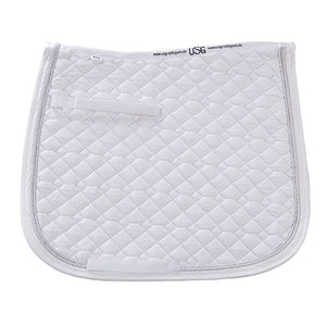 USG Dressage Saddle Pad,   White on White