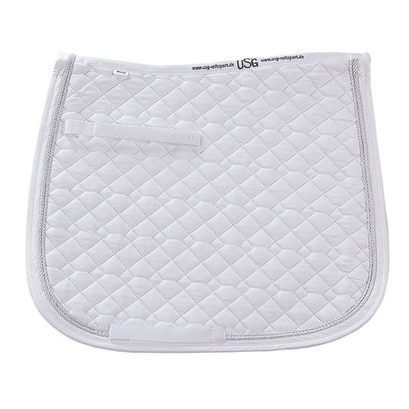 USG Dressage Saddle Pad,   White/White