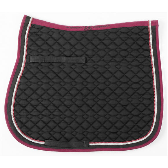 USG AP Saddle Pad,  Black, Burgundy & Silver