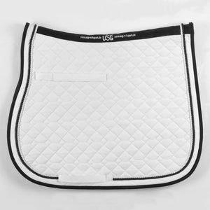 USG All Purpose Saddle Pad,  White & Black