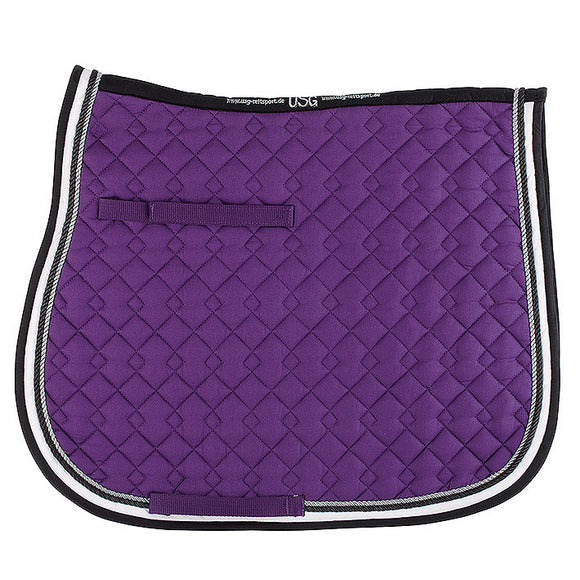 USG All Purpose Saddle Pad,  Lilac, Ecru, & Black